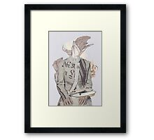 #1 (Wire) Framed Print