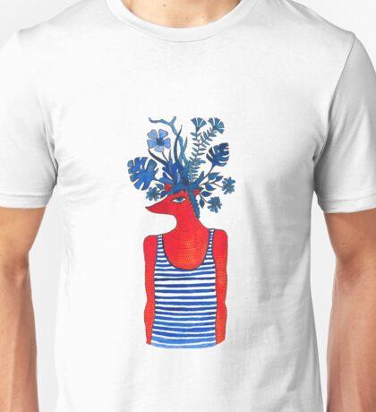 Flowery fox Unisex T-Shirt