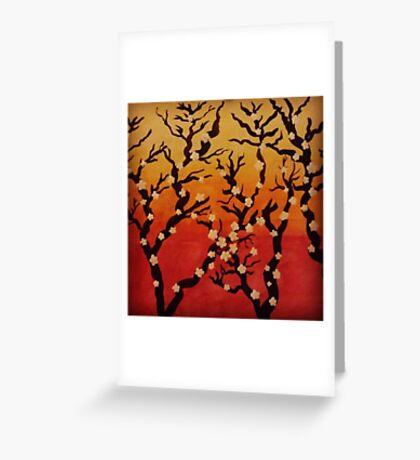 Japanese Cherry Blossom Tree Greeting Card