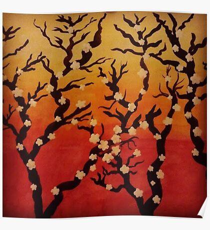 Japanese Cherry Blossom Tree Poster