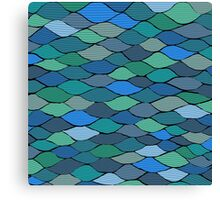 Waves and Scales Canvas Print