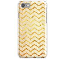 Faux Foil Gold Chevron Patter iPhone Case/Skin