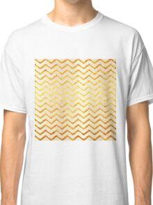 Faux Foil Gold Chevron Patter Classic T-Shirt