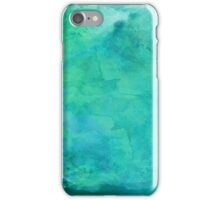 Blue Teal Turquoise Watercolor Background iPhone Case/Skin