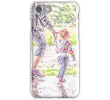 Little Walk in the Rain iPhone Case/Skin