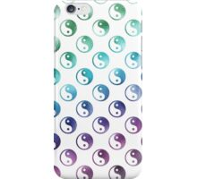 Rainbow Faux Foil Yin Yang Pattern iPhone Case/Skin