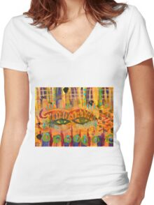 Keeping a Soulful Eye on You Women's Fitted V-Neck T-Shirt