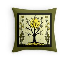 Art Deco - Tree Throw Pillow
