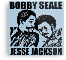 Bobby Seale and Jesse Jackson Metal Print