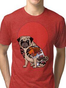 YAKUZA PUG Tri-blend T-Shirt