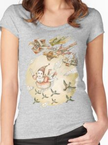 kite girl fly Women's Fitted Scoop T-Shirt