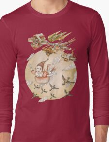 kite girl fly Long Sleeve T-Shirt