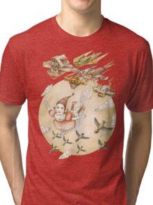 kite girl fly Tri-blend T-Shirt