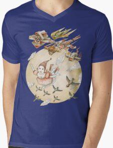 kite girl fly Mens V-Neck T-Shirt
