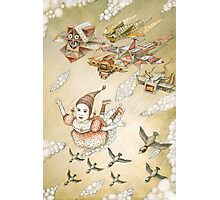 kite girl fly Photographic Print
