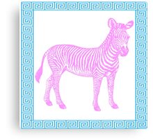 chinoiserie chic zebra greek key Canvas Print