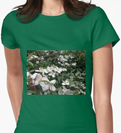 Keep them coming - Clemetis Blossoms Womens Fitted T-Shirt
