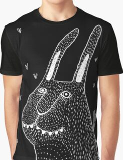 Night Bunny Moth Graphic T-Shirt