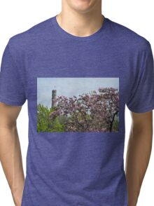 Blossoms and Watchers Tri-blend T-Shirt