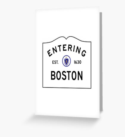 Entering Boston Greeting Card