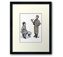 Victorian Sherlock and Watson Framed Print