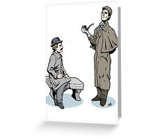 Victorian Sherlock and Watson Greeting Card