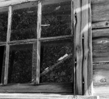 barn window Sticker