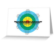 Magnification Snowflake Greeting Card
