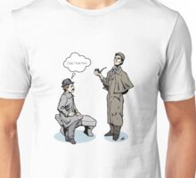 Victorian Sherlock and Watson - God, I hate him. Unisex T-Shirt