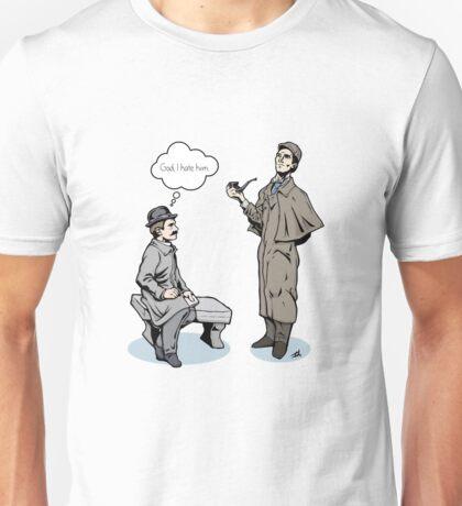 Victorian Sherlock and Watson - God, I hate him. Unisex T-Shirt