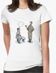 Victorian Sherlock and Watson - God, I hate him. Womens Fitted T-Shirt