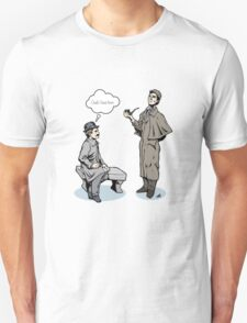 Victorian Sherlock and Watson - God, I love him.  Unisex T-Shirt