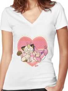 Kitty Love Women's Fitted V-Neck T-Shirt