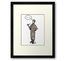 Victorian Sherlock - Not a clue.  Framed Print