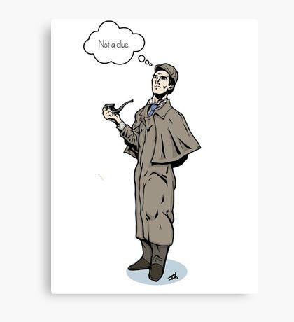 Victorian Sherlock - Not a clue.  Canvas Print