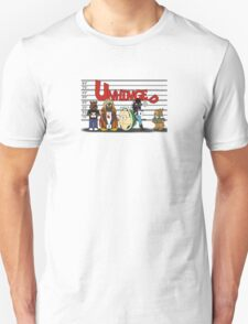 Unhinged Character Line-Up Unisex T-Shirt