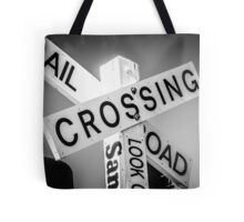 Railroad Crossing Tote Bag