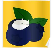 Blueberry Cat Poster