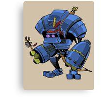 Robot Brave Canvas Print