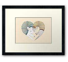 Ferret sleep Framed Print