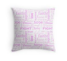 Breast Cancer Throw Pillow