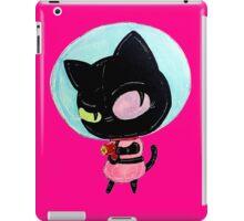 cookie cat's got a raygun iPad Case/Skin