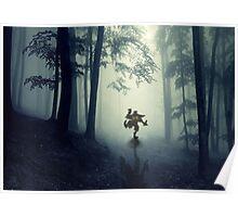 Skull Kid in Forest Poster