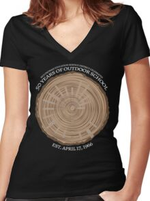 50th Anniversary (fcw) Women's Fitted V-Neck T-Shirt