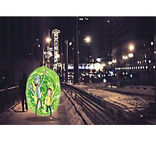 Rick and Morty in Chicago Photographic Print