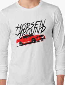 Horsen Around Mustang Long Sleeve T-Shirt