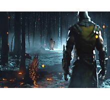Mortal Kombat and Frosty the Snow Man Photographic Print