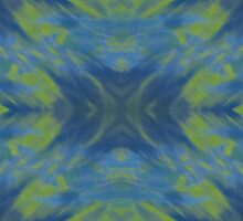 blue green Rorschach by Morag Anderson