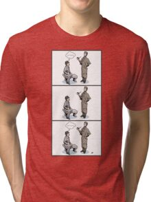 Victorian Sherlock and Watson - Love and Hate Tri-blend T-Shirt