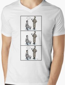 Victorian Sherlock and Watson - Love and Hate Mens V-Neck T-Shirt